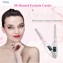 Tinwong ceramic inner core magic wand eyelash curler, Rechargeable Electric LCD 3D Heated Eyelash Curler molecule professional плойка для завивки ресниц electric heated eyelash curler плойка для завивки ресниц electric heated eyelash curler 1 шт