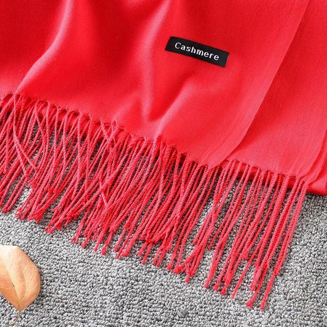 Soft Cashmere New Solid Color Wraps Thin Long Scarf 4