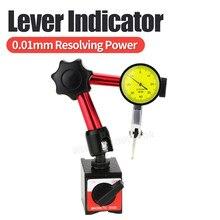 Sondes de mesure levier cadran indicateur support de Base magnétique support cadran jauge Distance outils de mesure alésage magnétique 0.08