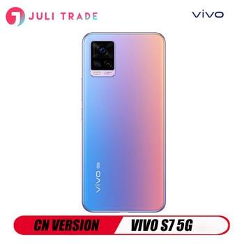 Перейти на Алиэкспресс и купить Оригинал, VIVO S7 5G, Android, Snapdragon 76, 5G, отпечаток пальца, быстрая зарядка, 33 Вт, Type-C, отпечаток пальца, версия CN