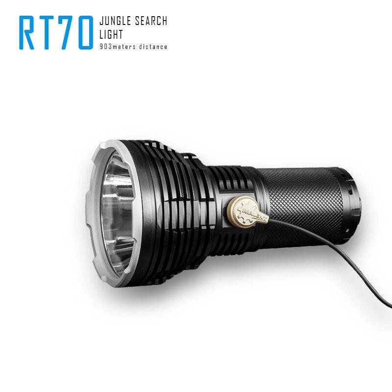 Image 5 - Imalent RT70 Cree XHP70 2. Generacji led ładowane na usb latarka latarka z 4X18650 3000mah bateria na kempingLatarki LED   -
