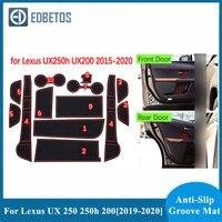 UX UX250h UX200 250 250h 200 Tapete de Porta de Carro Styling Acessórios Para Lexus UX UX250h UX200 2019 2020 250 250h 200 Interior da Almofada Do Copo