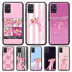 Funda de teléfono de Pantera Rosa para Samsung Galaxy A51, A71, A91, A21s, A31, funda de silicona para A12, A02s, A10