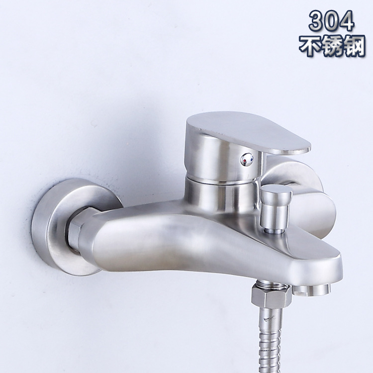 Han Ma Sanitary Ware 304 Stainless Steel Tub Shower Triple Tap Emperor Mention Pull Down Water Extractor Three Feature Style
