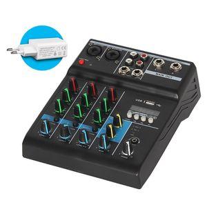 O misturador profissional 4 canaliza o console de mistura sadio de bluetooth para o karaoke