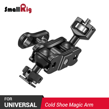 SmallRig Quick Release Cold Shoe Adjustable Friction Articulating Magic Arm w/ Double Ballheads (1/4 Screw & Cold Shoe) 2394 smallrig adjustable friction articulating magic arm with screw ball head and nato clamp ball head for director monitor support
