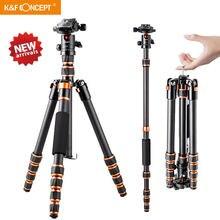 K & F Concept – trépied en Fiber de carbone, léger et Portable, pour appareil photo DSLR, photographie professionnelle, pour caméra Canon Sony