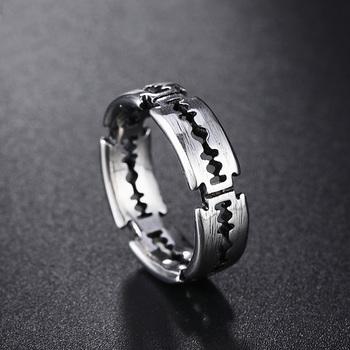 Koreańska wersja prostego żyletka męska pierścień Punk obrączki dla par ze stali nierdzewnej dla kobiet mężczyzn biżuteria prezenty tanie i dobre opinie TOGA PULLA CN (pochodzenie) STAINLESS STEEL Unisex Metal Pierścień pokazowy ROUND 6 4mm Zgodna ze wszystkimi Budzik TP662