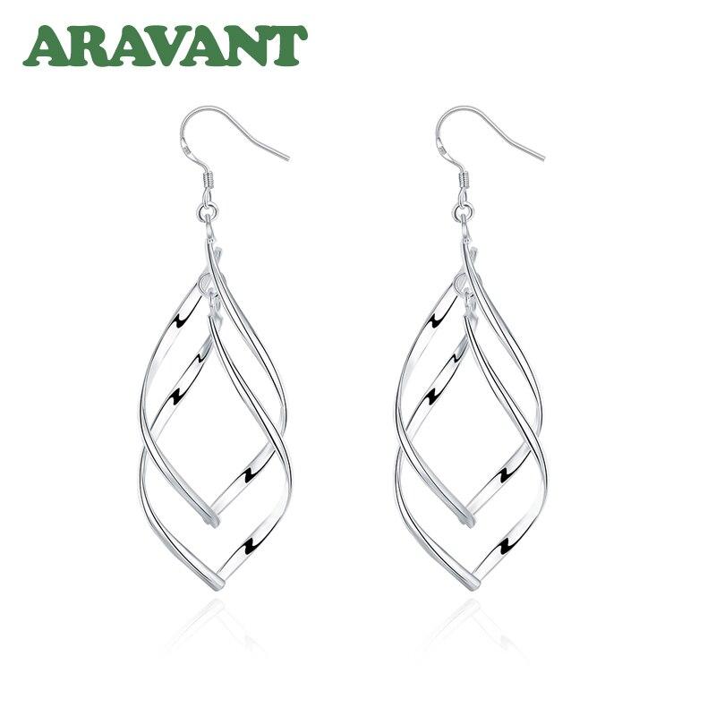 2020 New Arrival 925 Silver Jewelry Women High Quality Long Earrings Hanging Drop Earring Jewelry 4