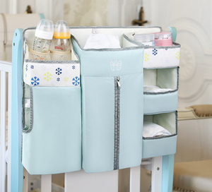 Image 2 - Bolsa de almacenamiento colgante para cuna de bebé, organizador de pañales, juegos de cama, accesorios para almacenamiento de cuna y organización de guardería