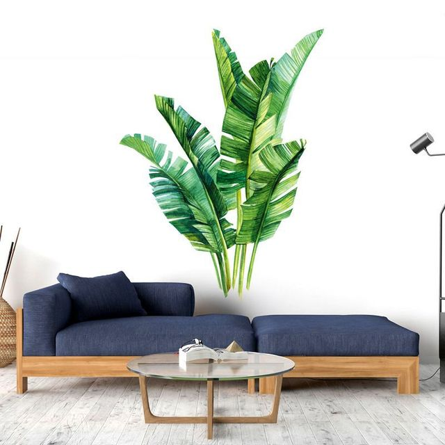 Green Plant Tropical Wall Stickers 6