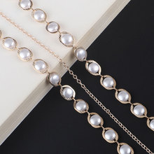 Fashion Gold Elegant Pearl Reading Glasses Chain for Women Sunglasses Rope Eyewear