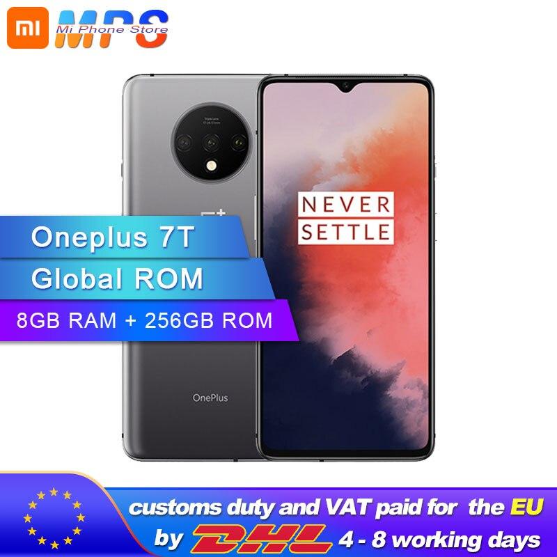 Novo original oneplus 7 t 7 t smartphone 8 gb ram 256 gb rom snapdragon 855 mais android 10 6.55 90 90 90 hz tela octa núcleo 48mp câmera