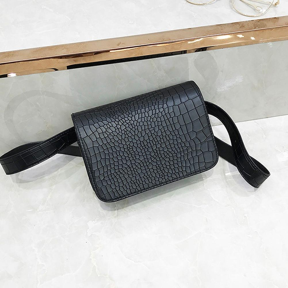 Women Waist Bag Crocodile Multicolor Messenger Chest Bag Clutch Female Pu Leather Fanny Pack Cross Body Bag Fashion High Quality