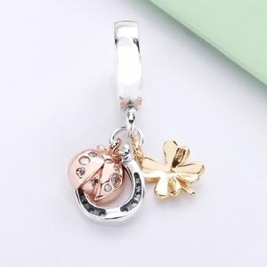 Бесплатная доставка подлинный 925 пробы Серебряный Золотой подвеска-снитч Шарм Подходит оригинальный Pandora браслет для женщин рукоделие ювелирные бусины