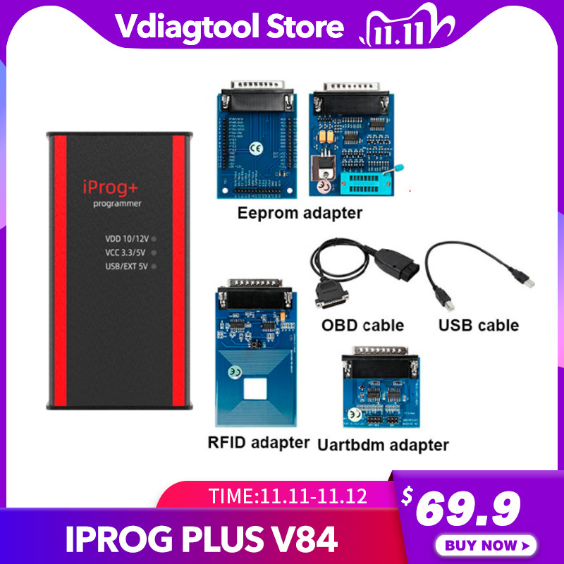 Newest Iprog  Key Programmer Support IMMO   Mileage Correction   Airbag Reset Iprog Pro Till 2019 Replace Carprog Digiprog Tango
