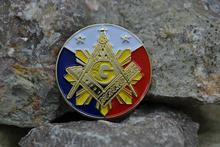 Masonic Lapel Pins Badge Mason Freemason  B23 Philippines Flag Exquisite gold-plated business badge Brooch