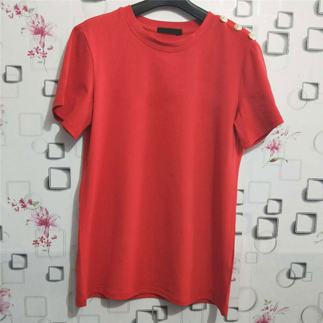 100% Cotton Women Cotton Shirts Summer Letter T-Shirt Female Short Sleeve Tees Ladies Casual Tops O Neck Harajuku Shirt 4