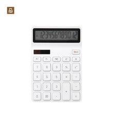 Youpin KACO LEMO Настольный калькулятор фотоэлектрический двойной Dive 12 цифр дисплей интеллектуальное выключение для школы офиса