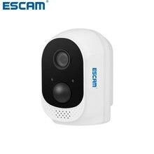 цена на ESCAM QF230 HD 1080P 2MP Security IP Camera P2P With 10400mAh Battery WIFI IR PIR Alarm Surveillance Night Vision CCTV Cameras
