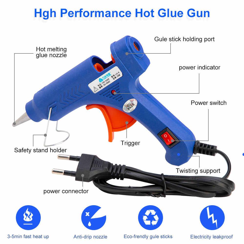 20W/100W Hot Meltกาวปืน 7MmกาวกาวอุตสาหกรรมมินิปืนThermoไฟฟ้าความร้อนอุณหภูมิซ่อมเครื่องมือDIY