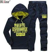 Yeni bahar eşofman erkekler WomanHoodies ceket + Sweatpants Suit bahar kazak spor giyim seti erkek Hoodie spor takım elbise