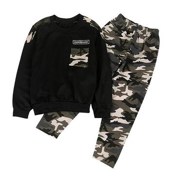 2020 zestawy ubrań dla chłopców jesień list dwa kawałki zestaw ubrań dla dzieci dres dres sportowy tanie i dobre opinie Moda CN (pochodzenie) O-neck Swetry NTTZC77A COTTON Poliester Unisex Pełna REGULAR Pasuje prawda na wymiar weź swój normalny rozmiar
