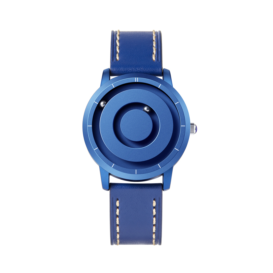 EUTOUR New Innovative Blue Gold Magnetic Metal Multifunctional Watch Men's Fashion Sports Quartz Watch Simple Men's Watch 16