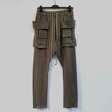 Owen Seak Men Casual Pants Gothic Men's Harem Sweatpants Cargo Spring Cross Lightweight Women Solid Loose Black Pants Size XL