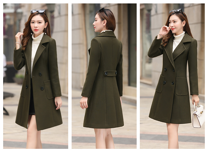 Woolen Women Jacket Coat Long Slim Blend Outerwear 2019 New Autumn Winter Wear Overcoat Female Ladies Wool Coats Jacket Clothes 2