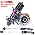 X Cobra MTB Fahrrad hub 32 löcher 4 NBK lager 4 krallen 144 klicken 8 9 10 11 12 geschwindigkeit XD Bunte Pull gerade mountainbike hub auf
