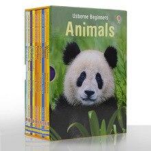 10 Pcs / Set Beginners Animals English Picture Book Animal World Kids Children Animal Encyclopedia Enlightenment Storybook Books