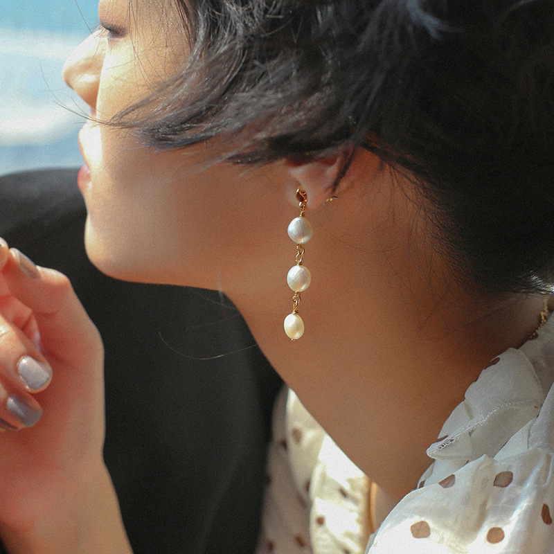 Timeless Wonder Glam Irregular Baroque Pearl Drop Earrings Women Jewelry Gothic Designer Ins Fancy Japan Top Party Trendy 6271