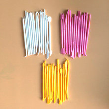 14ピース/セットプラスチック花の彫刻ダブル砂糖モデリング彫刻彫刻カッターフォンダンガムペースト粘土モールドdiyベーキングツール