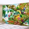 – 90 bis 300cm – *3 Tropen-Motive* Wandteppich / Tischdecke / Tuch, bunte Papageien im Dschungel Geschenk-Ideen | Tapisserie und Tischdecken 8