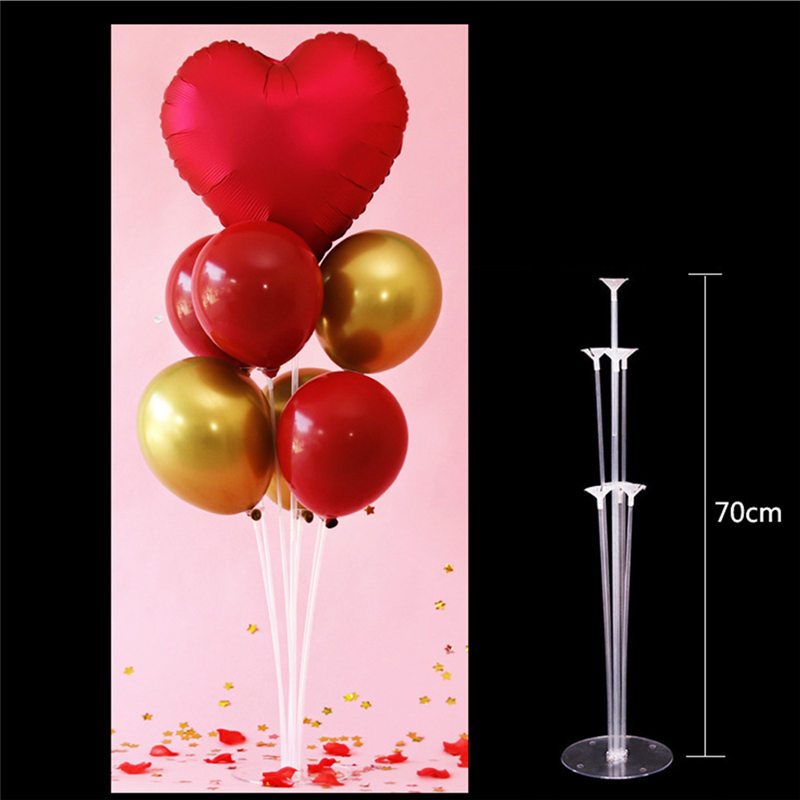 <font><b>7</b></font> <font><b>Tubes</b></font> <font><b>Balloons</b></font> <font><b>Stand</b></font> <font><b>Balloon</b></font> <font><b>Holder</b></font> <font><b>Balloon</b></font> Baby Shower Kids Birthday Party Wedding Decoration Supplies <font><b>Balloons</b></font> Accessories image