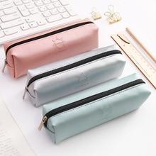 1 Pcs Kawaii Pencil Case Unicorn Canvas Big Zipper Estuches School Box Pencilcase Bag Supplies Stationery