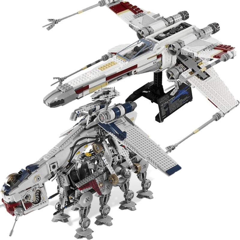 New Star Tie Fighter X Wing MicroFighters Wars AT Walker Building Blocks StarWars Lepining Toys 05053 10195 05039 10240