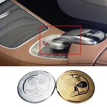 47mm interior do carro console central adesivo decalques para affalterbach amg mercedes w212 w213 w205 w177 w176 glc multimídia adesivo