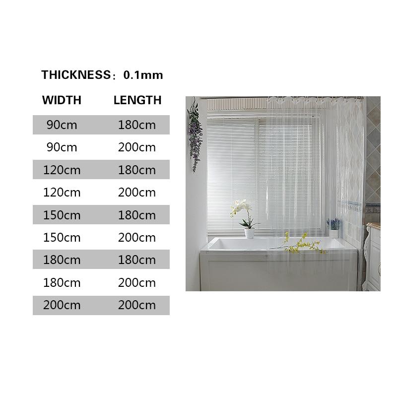 waterproof clear shower curtain liner transparent mildewproof