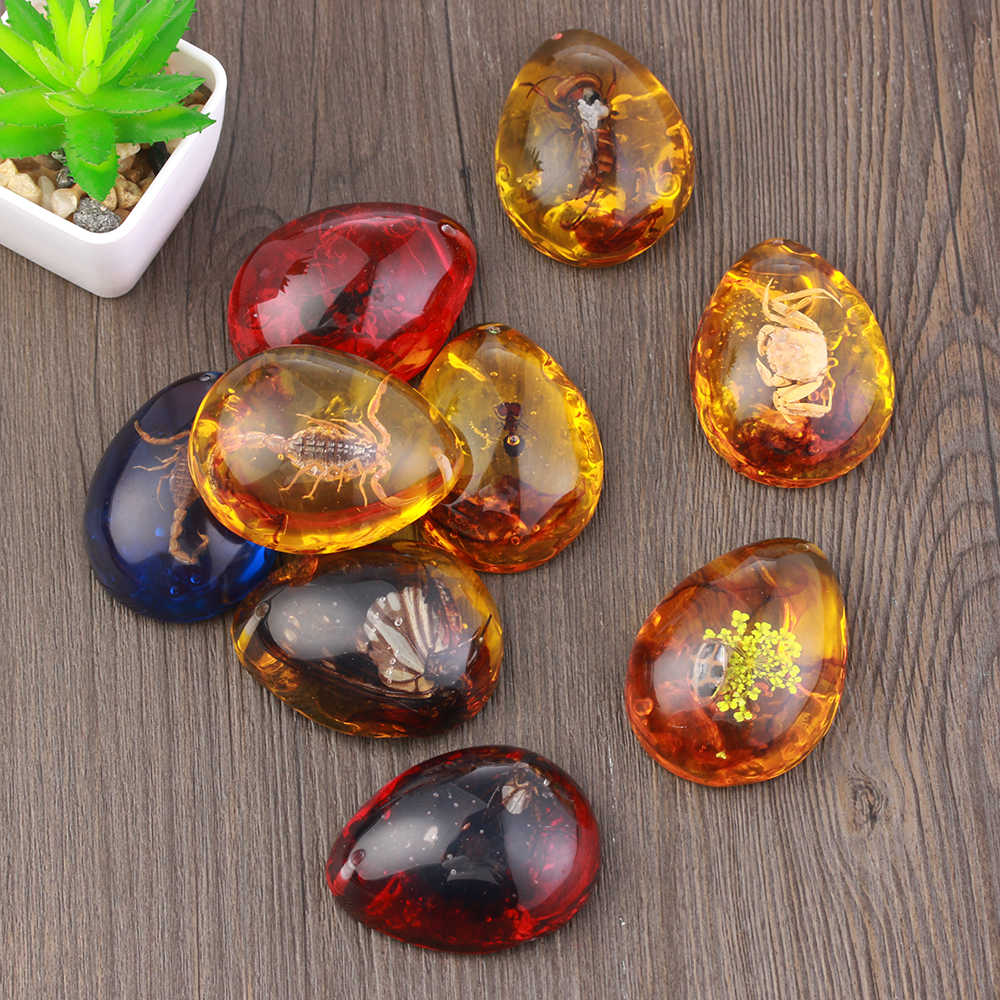 1 pieza original resina Artificial insectos ámbar mariposa pendiente de escorpión joyería regalo piedra ornamento artesanía hogar Decoración herramientas
