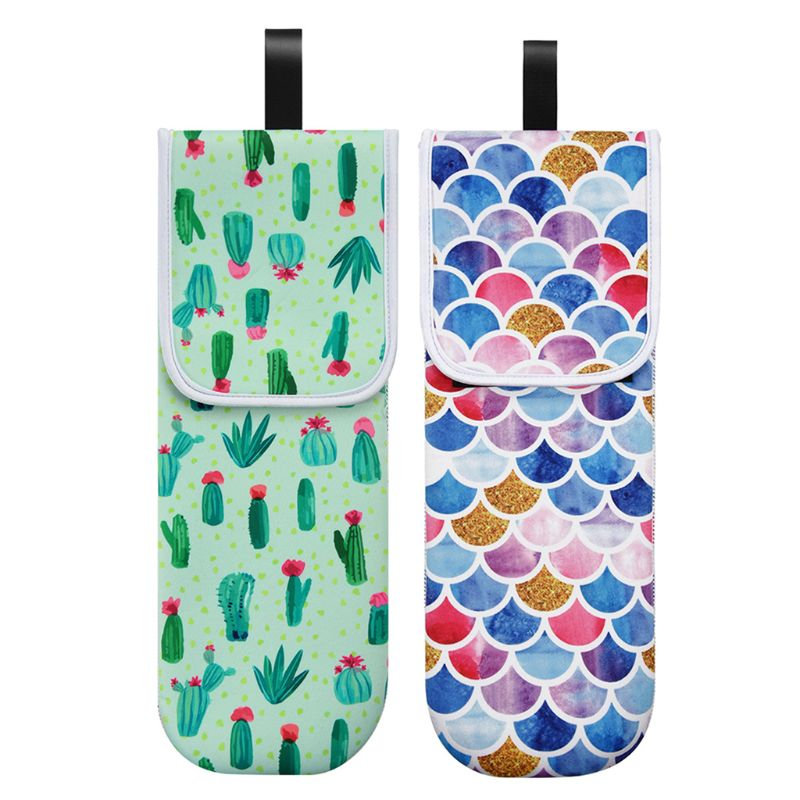 Colorful Floral Storage Bag Heat-proof Curler Holder Hair Straightener Pouch Shockproof, Waterproof, Wear-resistant And Durable
