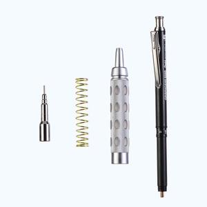 Image 2 - 1pcs Pente Graph Gear1000 Full Metal Scrub Handle Telescopic Head PG1015 Advanced Auto 0.3 0.5 0.7 0.9mm Drawing Activity Pencil