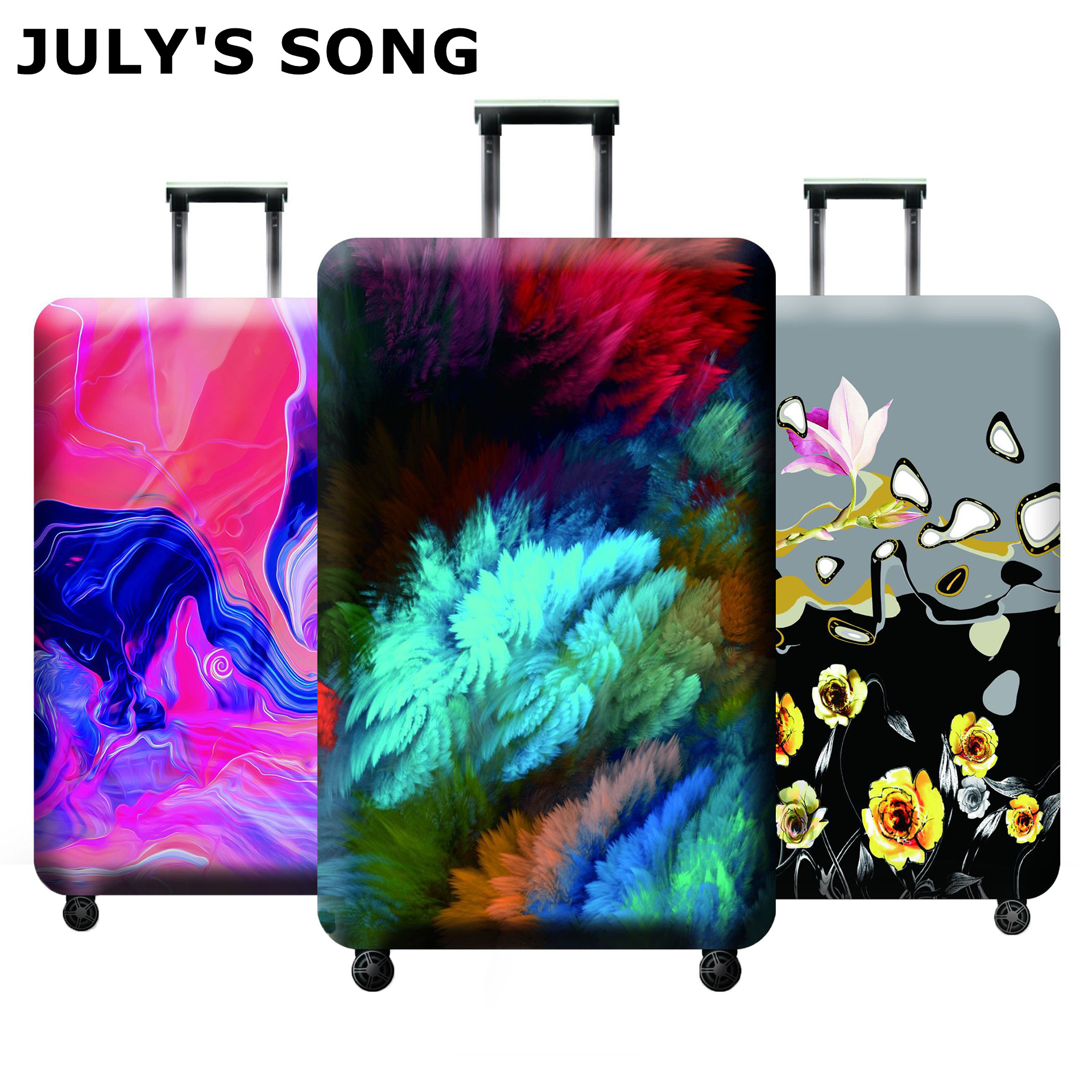 JULY'S SONG Luggage Protector Cover Suitcases Covers Waterproof Luggage Covers Accessory Bags Travel Trolley Case Cover