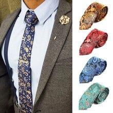 Модные мужские Узкие галстуки Галстук 6 см Классический Пейсли