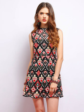 Baogarret Fashion Summer Vintage Dress Women's Sleeveless Hollow Out Floral Embroidery Elegant Ladies Vacation Mini Dresses vintage floral hollow out indian anklet