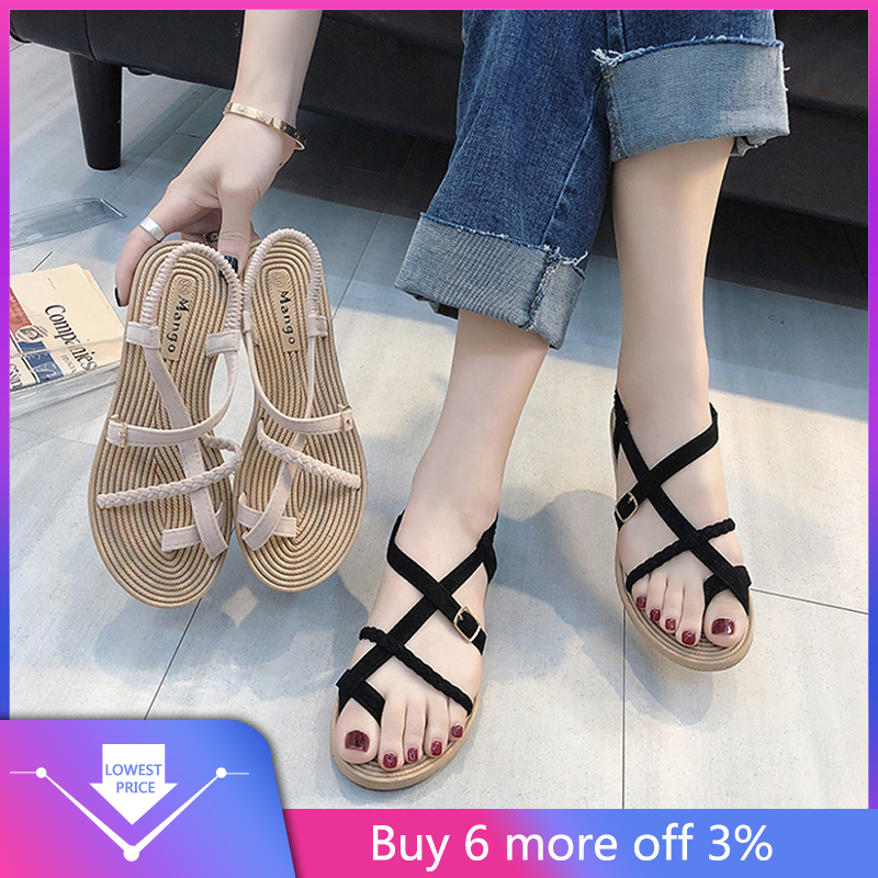 YOUYEDIAN Sandals Fashion Women's Shoes Retro Summer Ladies New Wild Mujer G3