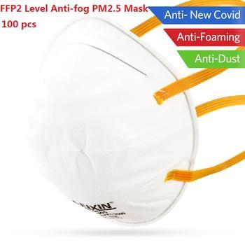 100pcs FFP2 Mask Antivirus flu anti infection Particulate Respirator FFP2 Level Anti-fog PM2.5 Protective Mask