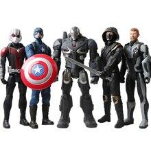 Marvel Мстители эндшпиль 12 ''/30 см Капитан Америка, соколиный глаз Тор военная машина человек-муравей Титан герой фигурки игрушки куклы для детей