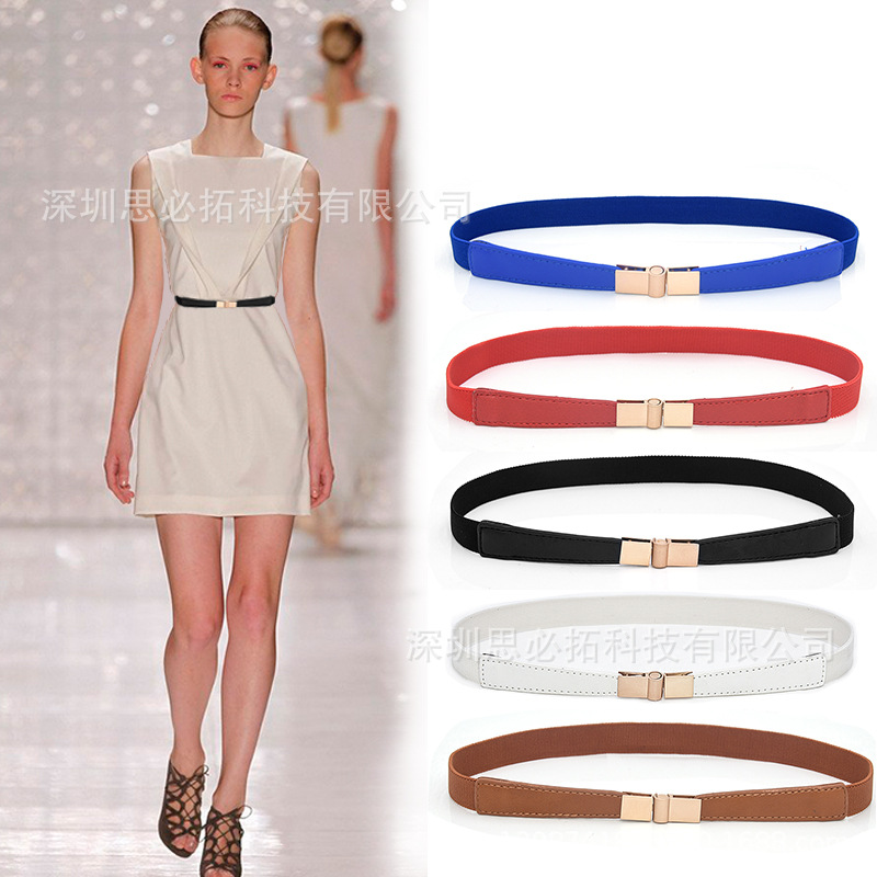 Versitile Fashion Women's Elastic Stretch Narrow Girdle Decorative Dress WOMEN'S Thin Belt Multi--a Generation Of Fat